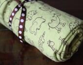 Flannel Playard Sheet / Pack n Play --  Zoo Animals, SALE