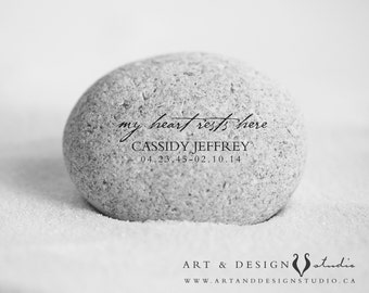 Condolence Sympathy Gift - Remembrance Memorial Gift - In Memory Of -  Death of Loved One -  Keepsake Art Print - Memorial Stone Print
