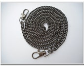 120cm gunmetal  purse chain with lobsters