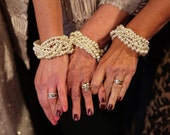 Custom order bracelet braided twisted chunky statement pearl bracelet bridesmaid bridal