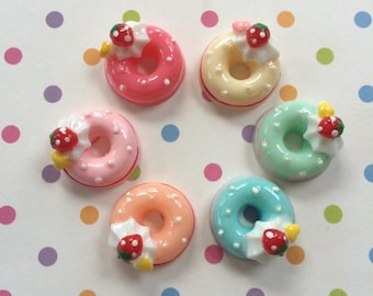 Frosted Donut Cabachons 18 pcs
