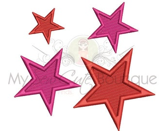 Star Machine Embroidery Design - Star Embroidery Design - 14 Sizes - Instant Download