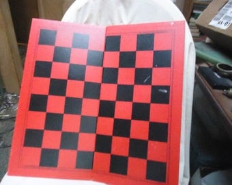 Vintage Milton Bradley Checkers Game Board, collectable, toy