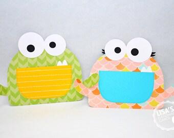 Custom Monster Birthday Invitations Handmade by Lisa