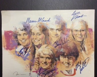 Brady Bunch Kids Autographed Picture w/ COA