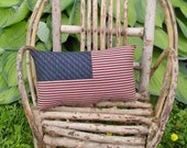 Primitive American Flag Pillow