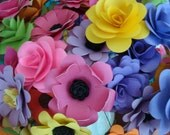 Paper Flowers  Bright Color Assorted paper Flowers  20 qty