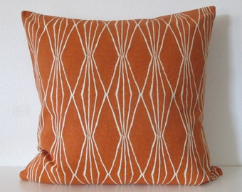 Robert Allen Handcut Shapes Orange Crush geometric decorative pillow cover