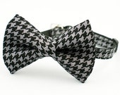 Houndstooth Bow Tie Cat Collar