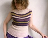 Blush Plum - Terry T cotton tank top knit with easy to care for terrycloth yarn