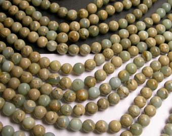 Impression Jasper -  8 mm round beads -1 full strand - 50 beads - A quality - RFG282