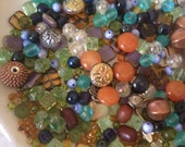 DESTASH, CZECH BEADS, Firepolish, Large lot of Beads, Assorted Beads, Matte Frames, Vintage Square, Jewelry Supplies