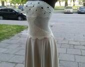 SALE, Ivory/sand crochet summer dress, size XS