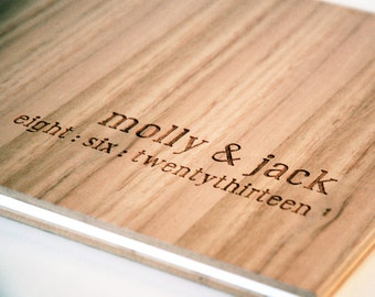 wedding guest book wood custom engraved engagement gift bridal shower // tasmanian oak