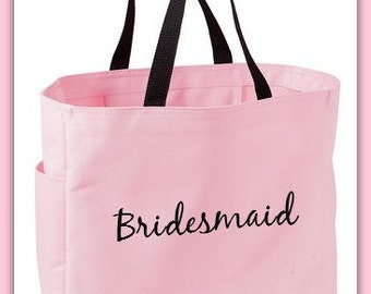 Monogrammed Tote Bag Personalized Bride Tote Bag Bridesmaid Sorority Beach Wedding party