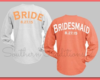 Bridal Party Jersey - Custom Jersey Wedding Oversized for the Bride Bridesmaid Maid of Honor