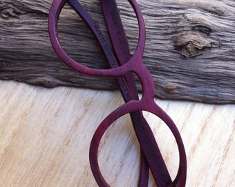 THANKS handmade purple wood wooden eyeglasses glasses frame