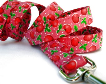 Pink and Red Dog Leash - Cherry Punch