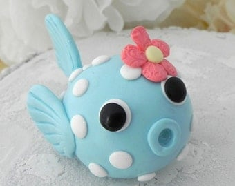 Baby Puffer Fish Cake Topper, Birthday or Baby Shower, Keepsake, Nursery Decor
