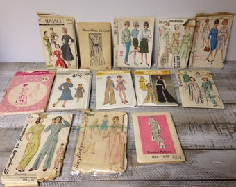 Women's Sizes 14-22 Vintage Pattern Lot, 1960's and 1970's