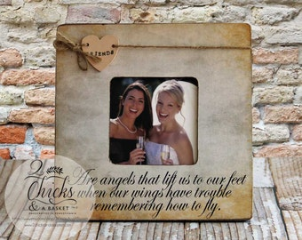 Friends Are Angels Picture Frame, Best Friend Picture Frame, Friend Gift Idea