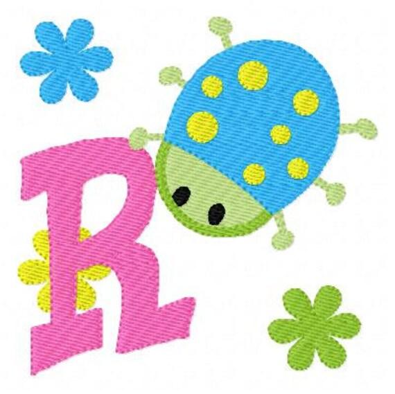 Garden Bug Cutie Machine Embroidery Monogram Font Design Set Joyful ...