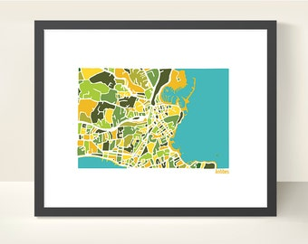 Antibes France Map Print - original illustration