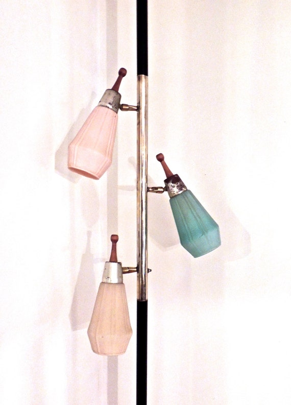 Vintage Suspension Lamp 1950s 60s Mid Century Atomic Pole