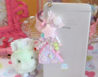 Fairy Kei Pastel Pizza Headphone Jack  Phone Charm Pick One