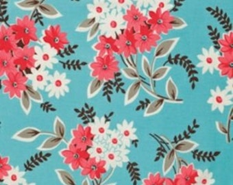 SALE : Flea Market Fancy Legacy Collection blue bouquet Denyse Schmidt FQ or more