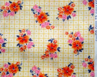 Picadilly bouquet orange DS Quilts Denyse Schmidt fabric  FQ or more