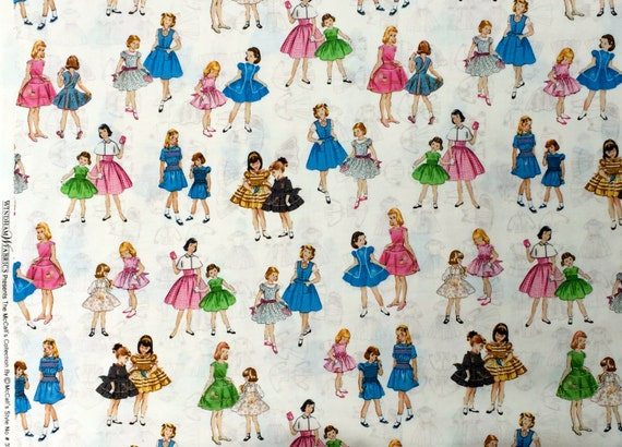 McCalls Patterns girls dresses McCalls Collection Windham fabrics FQ or more