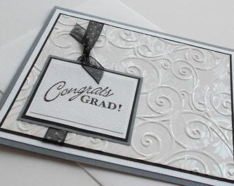 Graduation Greeting Cards: Handmade Blank Note Card - Prestigious
