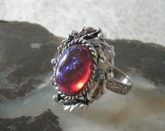 Dragons Breath Fire Opal Ring, medieval jewelry renaissance jewelry victorian jewelry gothic art nouveau edwardian art deco ring