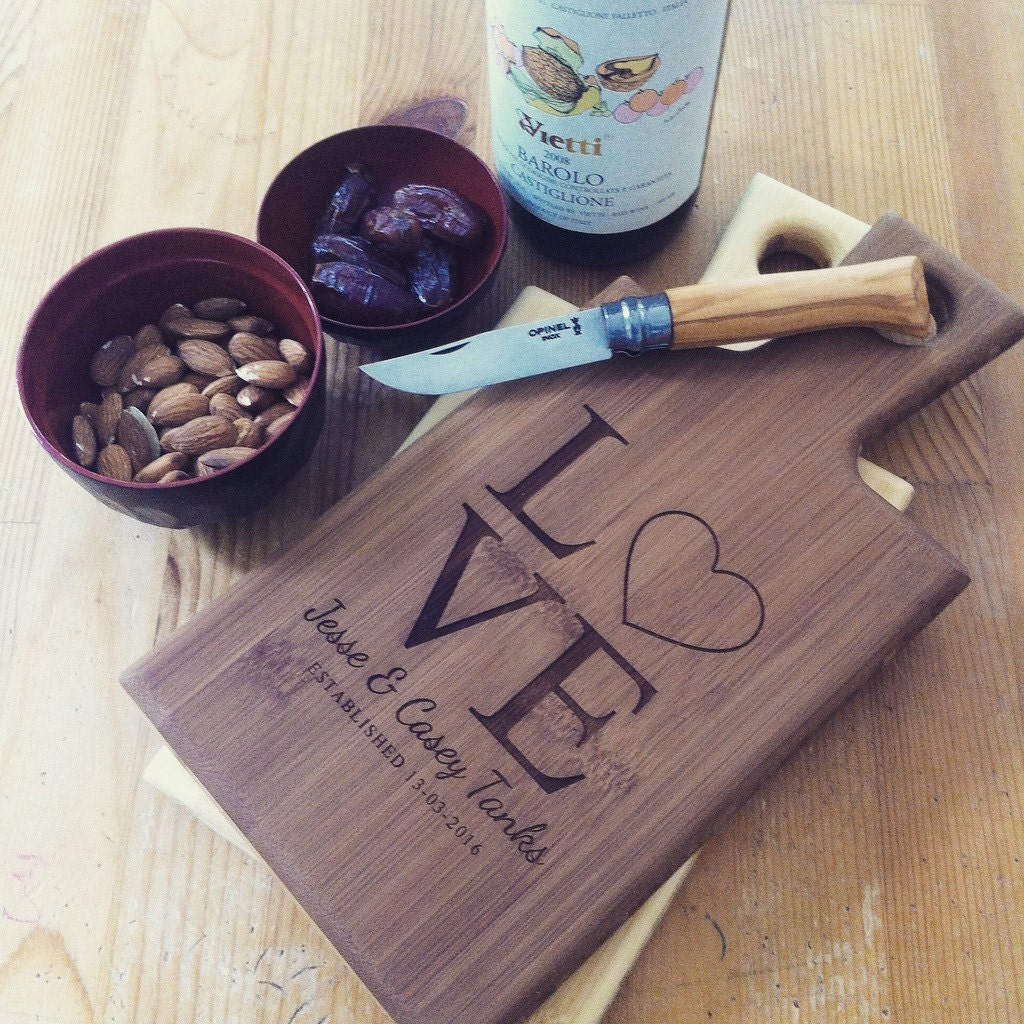 engraved cutting board custom engraved cutting board personalized serving board 29633
