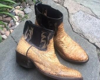 Custom jadaandjon snake skin ankle cowboy boots