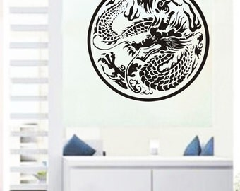 Chinese dragon 22by22inches-----Removable Graphic Art wall decals stickers home decor