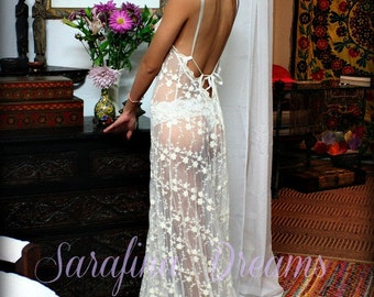 Backless Bridal Lace Nightgown Heirloom Collection Wedding Lingerie Sarafina Dreams Bridal Sleepwear