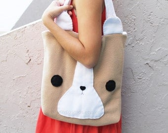 Corgi Tote Bag - Schoolbag, Backpack, Bookbag, Animal Tote Bag, Women's Tote, Christmas Gift, Halloween Trick or Treat Bag