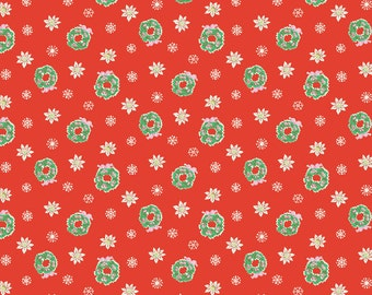 Red Christmas Fabric - Penny Rose Fabric = Elea Lutz Little Joys Fabric - Retro Christmas Fabric - Quilting Fabric By The 1/2 Yard