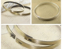 5 Blank Bangle- Brass Antique Bronzed Tone/ Silver Plated Bracelet 60mm High Quality Wholesale