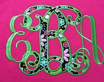 Appliqued & Embroidered Monogram Shirt