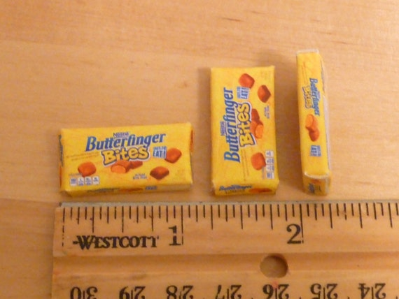 Reserved listing for Penny - 3 butterfinger candy boxes in 1:6 scale