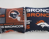 Denver BRONCOS NFL Cornhole Bags Corn hole Corn Toss Baggo Set of 8