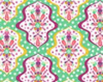 Riley Blake Designs Floriography Damask Green Fabric - 1 yard