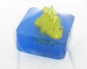 Ocean Blue Soap with Dinosaur, kid's soap Bath time Fun, party favors,gift soaps