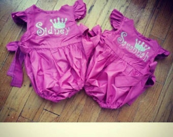 Personalized Bubble Rompers