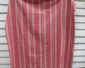 Large Piece of Vintage French Ticking / Red Raspberry
