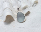 Sea Glass Necklace  Sterling Silver Necklace -  Sea Glass Necklace - Lake Erie Glass - Beach Glass - 925 Sterling