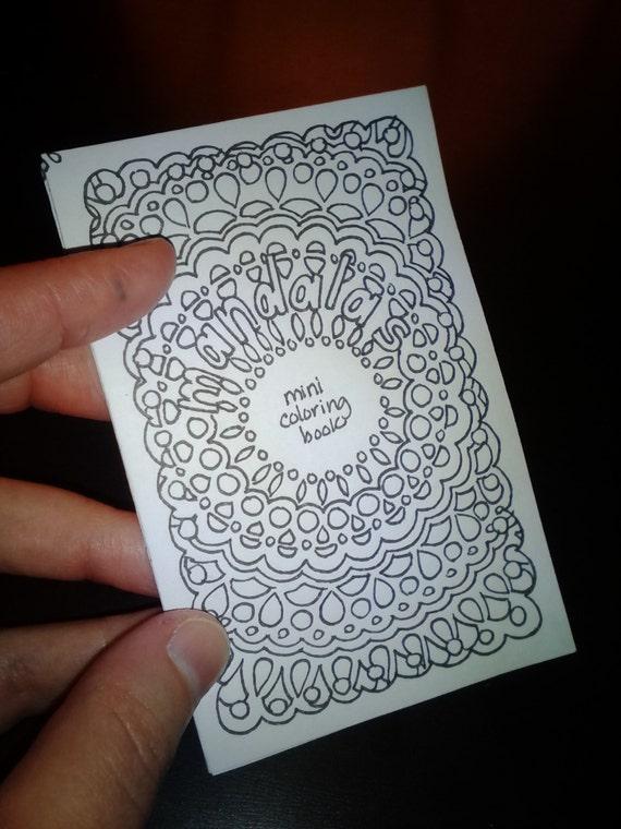 Items similar to Mini Mandalas Printable Adult Coloring Book on Etsy
